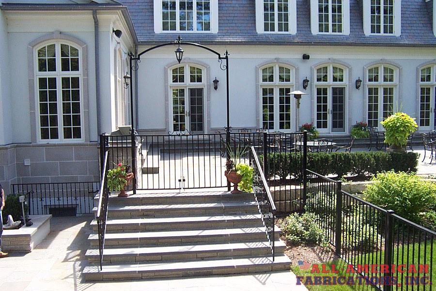 ornamental iron pool gate