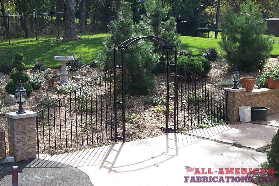 wrought iron garden arch