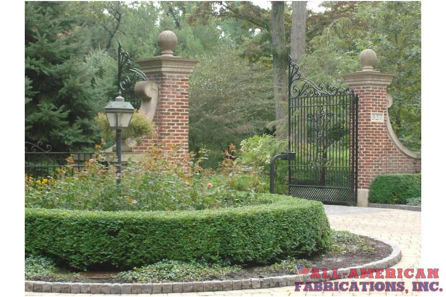 ornamental iron privacy gate