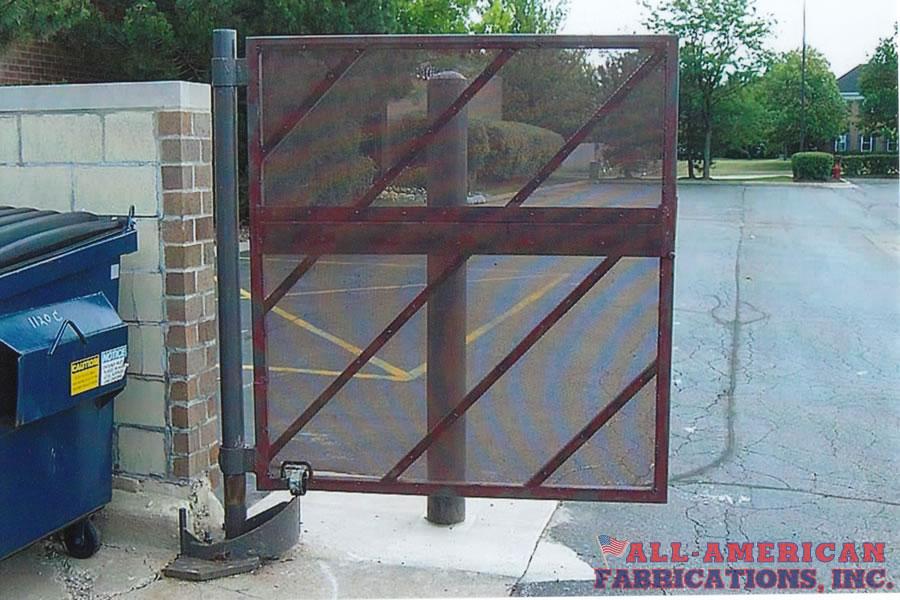 commercial dumpster trash enclosure gate