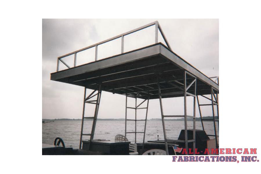 Non- Corrosive Aluminum upper deck for pontoon boat