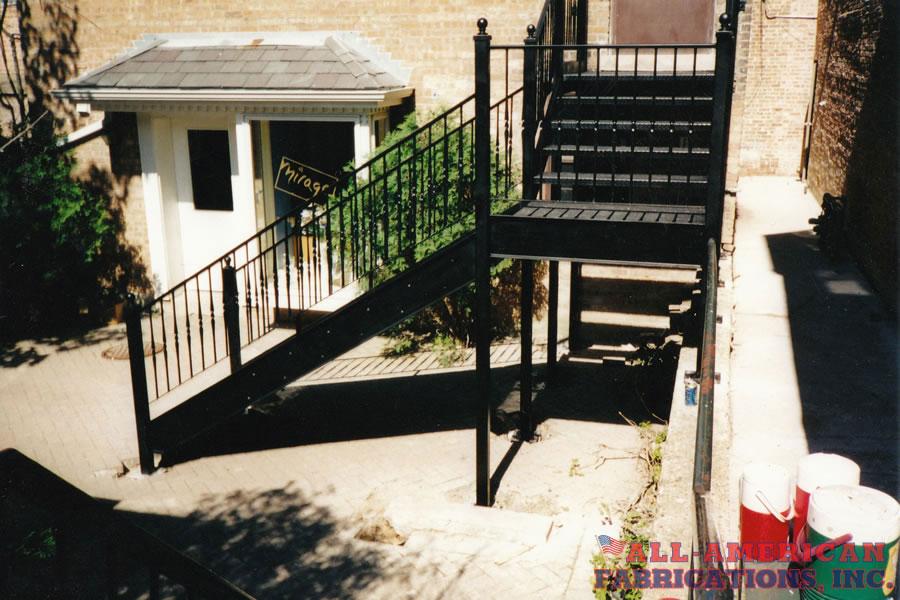 exterior metal stairs
