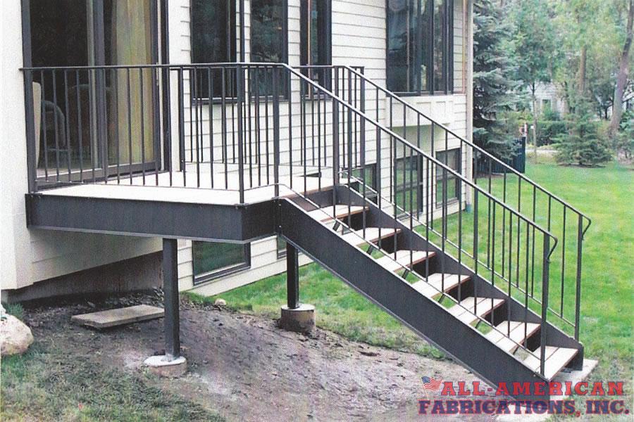 steel stairs residential