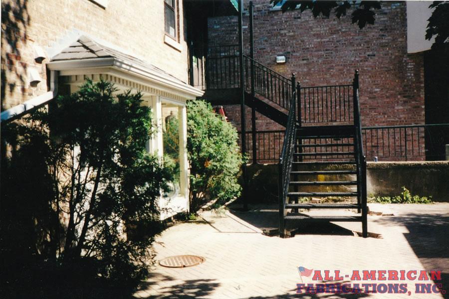 iron stairway