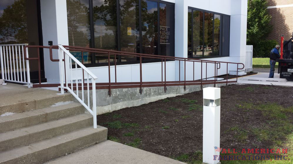commercial iron handicap railings
