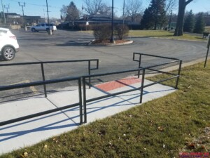 Wheelchair railing